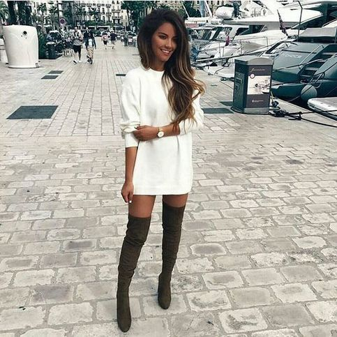 Unique Black Pointed Boots Super High Heels Over the knee stretch boots Hot from Eoooh❣❣