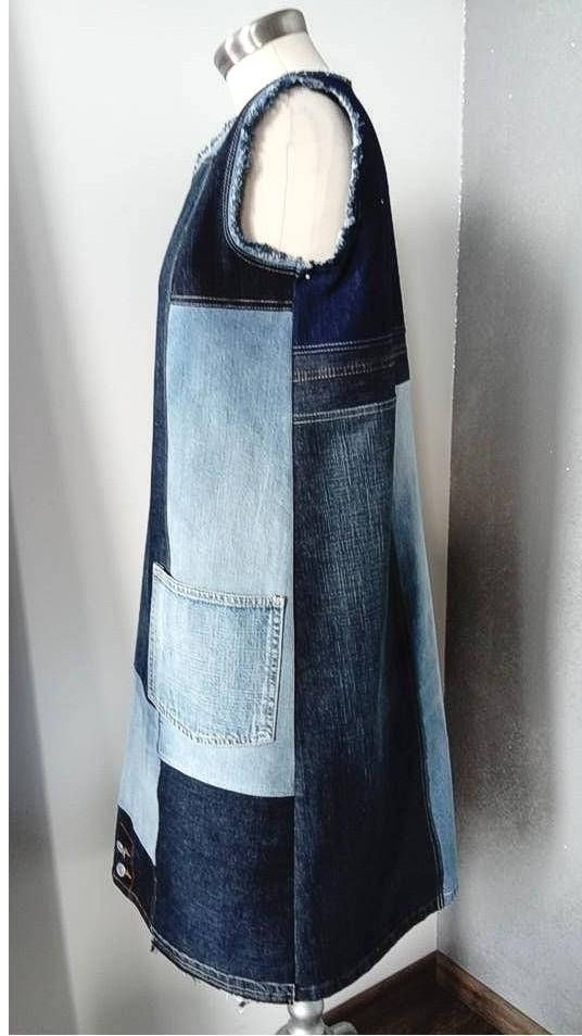 Upcycled jeans dress 100% handmade and unique, made in Croatia Every piece is on…