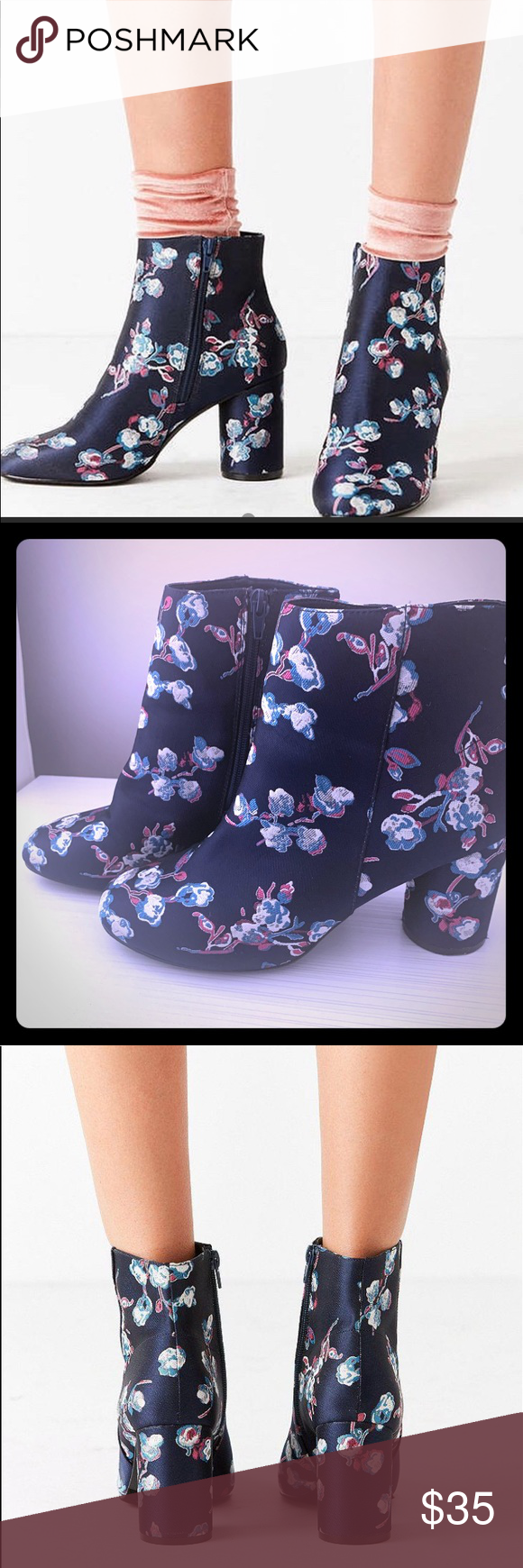 Urban Outfitters Juliet Floral Ankle Boots 10 Urban Outfitters Juliet Floral Jac…