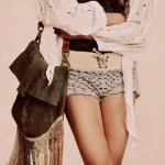 Very cute bohemian chic threads by Free People. Comfy textures, knee high gladia...