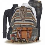 Vintage 70s MEXICAN Serape PONCHO- Bohemian winter ponchos trends www.justtrendy...