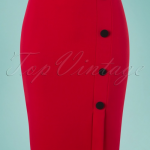 Vintage Chic for TopVintage 50s Ginny Pencil Skirt in Lipstick Red