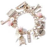 Vintage Gold Charm Bracelet (12.610 CLP) ❤ liked on Polyvore featuring jewelry...