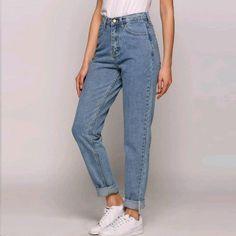 Vintage High Waist Jeans New Pants Full Length Pants Loose Cowboy Jeans