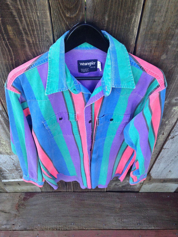 Vintage Wrangler Rodeo Polo Shirt, 90s Wrangler Cowboy Polo, Wrangler Long Sleeve Polo, Wrangler Long Sleeve Striped Polo, X-Long Tails