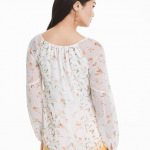WHBM FLORAL BLOUSE One of the easiest ways to pull off the season's big floral...