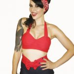 WINK Red Retro Bikini Top Sizes S, M, L, XL via Etsy. Her shop has the cutest th...