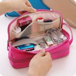 Waterproof Nylon Travel Storage Bag Digital Accessories Hanging Bag For Women Me...