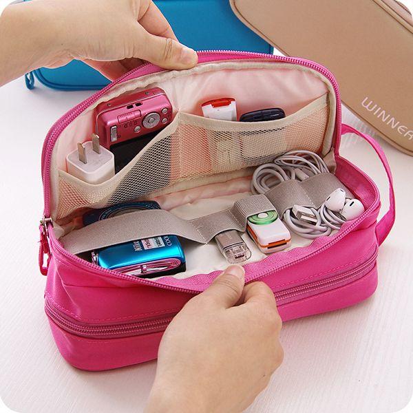 Waterproof Nylon Travel Storage Bag Digital Accessories Hanging Bag For Women Me…