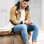 Wear a camel duffle coat and light blue jeans if you're going for a neat, stylis...
