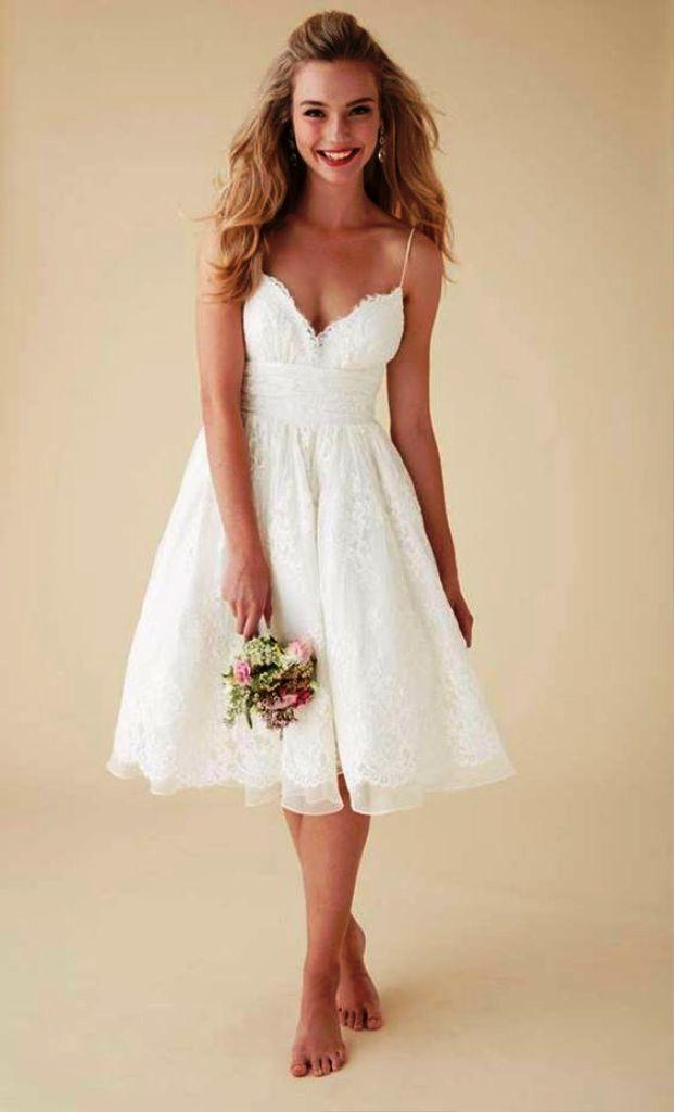 Wedding Dresses Sencillo >> 20 Beautiful Short Wedding Dresses Ideas For You | Wedding Dresse…