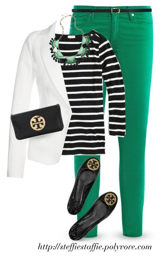 What to wear with green pants at work – 10 outfit ideas