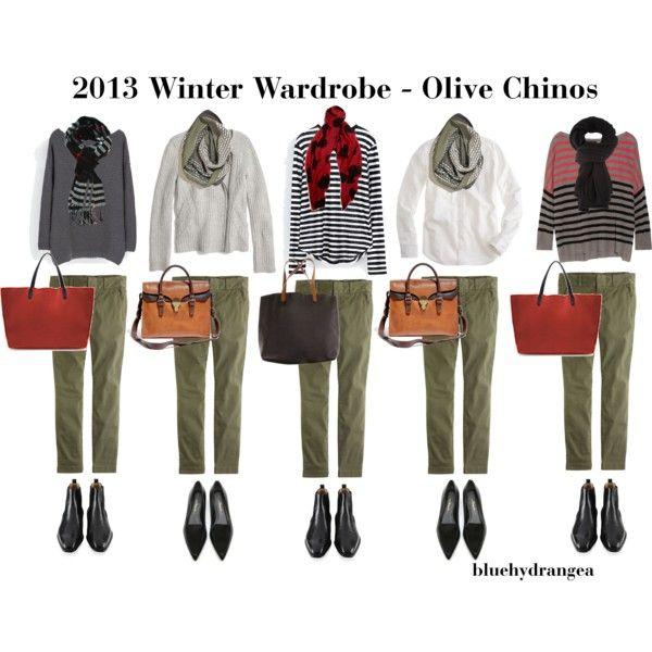 Winter Wardrobe – Olive Chinos