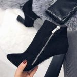 Women's fall winter fashion ankle boots outfits. Trends spring autumn casual c...