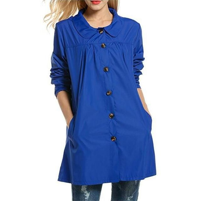 Women Lightweight Waterproof Coat Outdoor Hooded Clothes A-Line Style Women's Raincoat Jacket Newest – B S United States