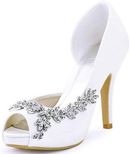 Women Shoes-Casual shoes Court Elegantpark Heels High Peep Platform Pumps Rhines…