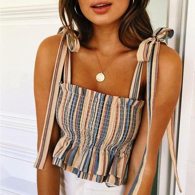 Women Striped Tank Top Fashion New Summer Cool Top Women  Tube top …