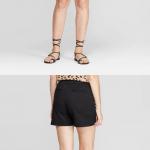 "Women's 5"" Chino Shorts - A New Day™ Black 2 Women's 5"" Chino Shorts - A New Da..."