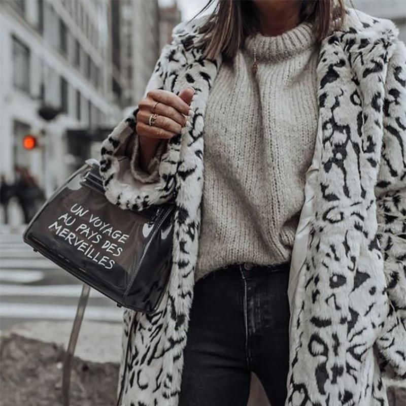Women's Casual Turndown Collar Long Sleeve Printed Color Coat&Overcoat