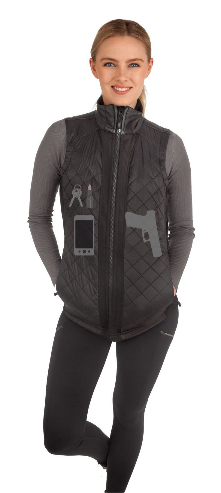 Women's Concealed Carry Crossroads Fitted Vest #survivalskillsforwomen