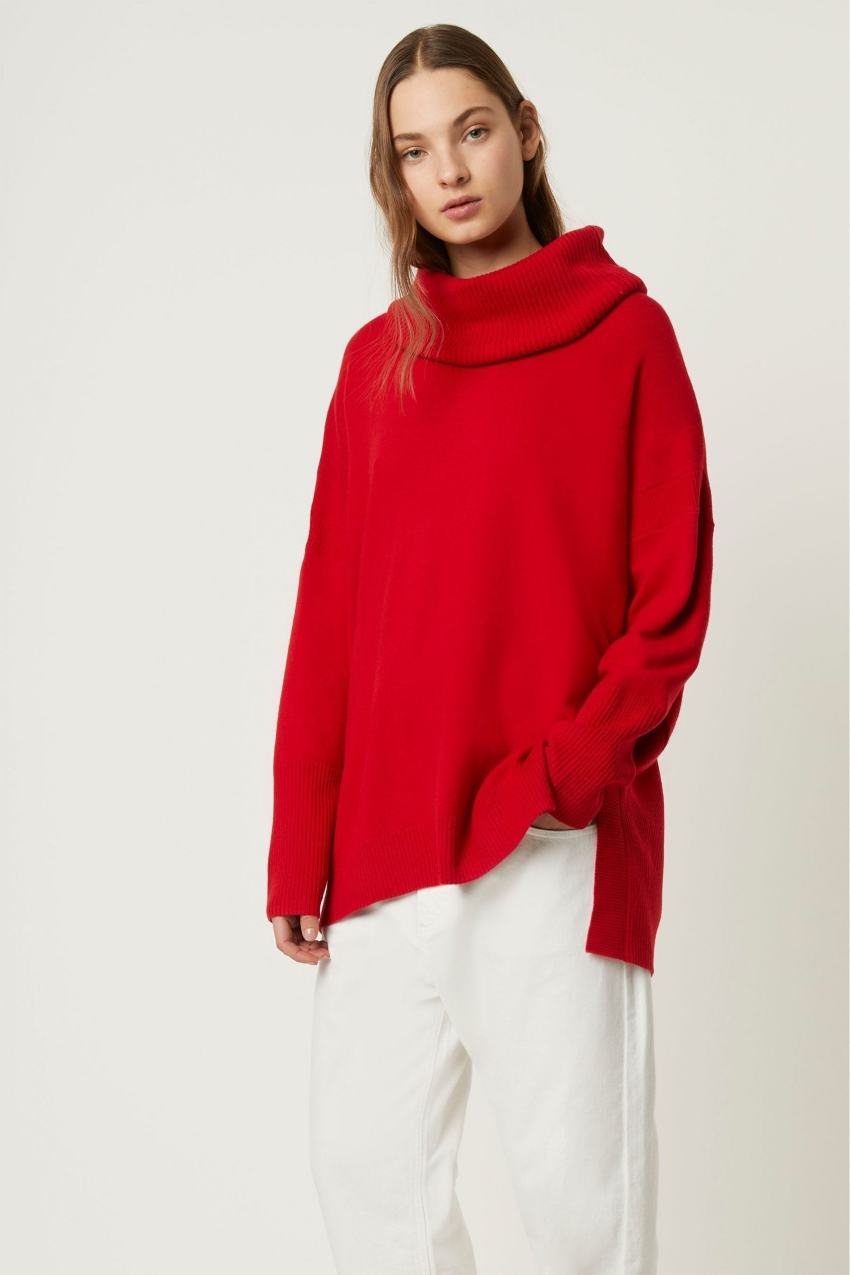 Womens French Connection Red Jumper –  Red