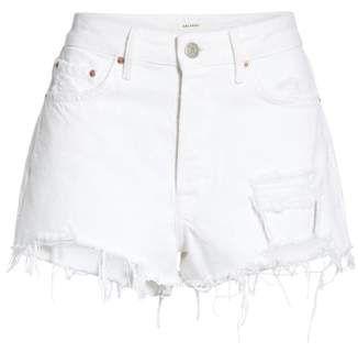 Women's Grlfrnd Cindy Rigid High Waist Denim Shorts, Size 27 – White