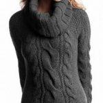 Women's Hand Knit Cowl Neck Sweater 33H