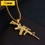 XS923 Sniper rifle NECKLACE Maxi Statement Necklaces Men Gold Twisted Chain Gun Pendant HipHop Jewelry For Women/Men Wholesale - Dream Jewelry Place. Find Earring, Necklace, Rings and More.