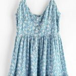 ZAFUL Ruffles Half Buttoned Floral Dress