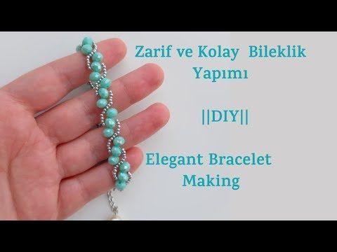 Zarif ve Kolay Bileklik Yapımı || #DIY || Elegant Bracelet Making