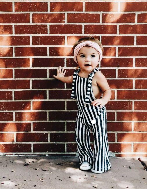 baby Girls Summer Romper Fashion Kids Girls Backless Long Jumpsuit Baby Girl Whi…