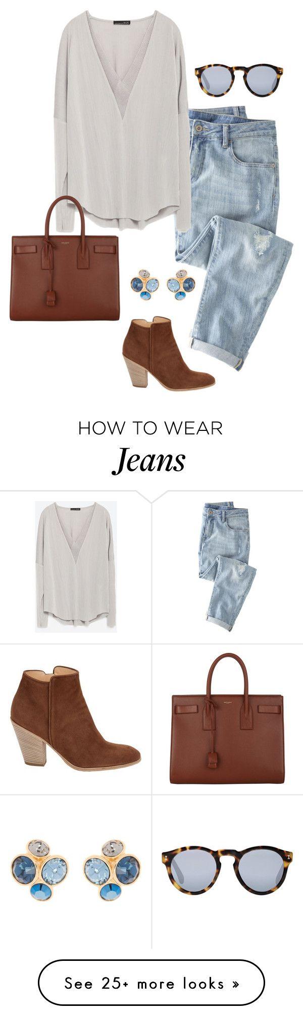 """boyfriend jeans"" by kcunningham1 on Polyvore featuring moda, Wrap, Zara, Illest…"