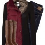 #fall #outfits / long sleeve blouse + waistcoat