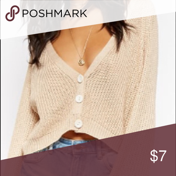 forever 21 beige cardigan cute beige cardigan with three buttons. great conditio…
