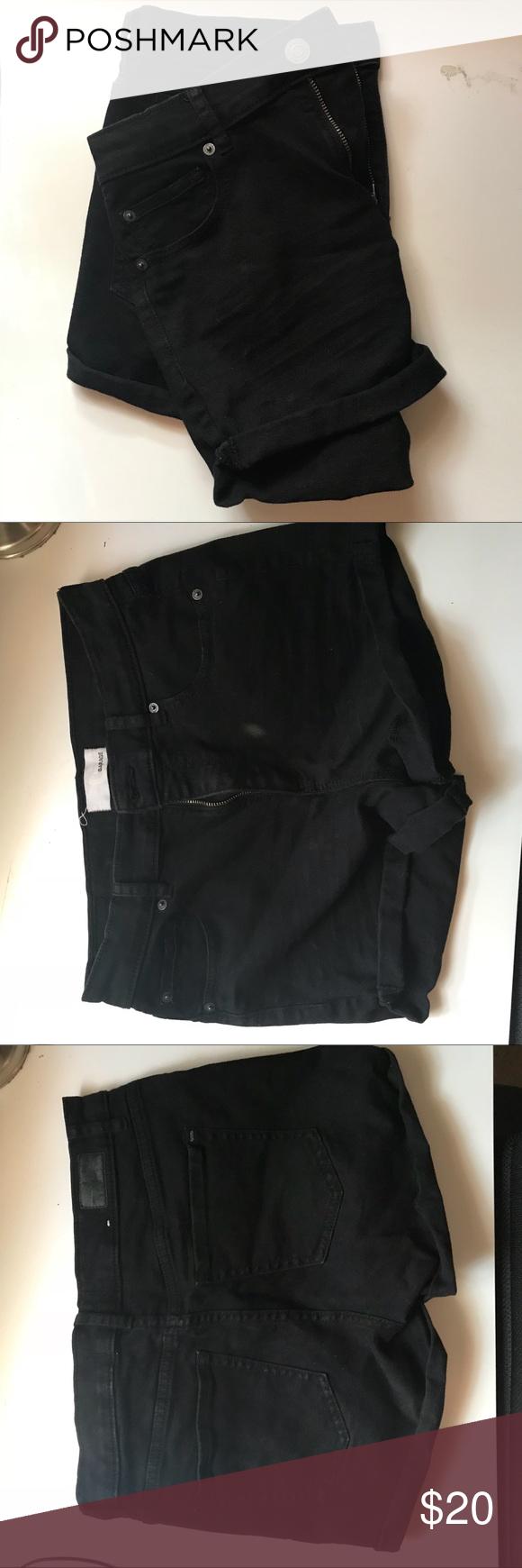 garage retro high waist black shorts retro high waist short style  black with no…