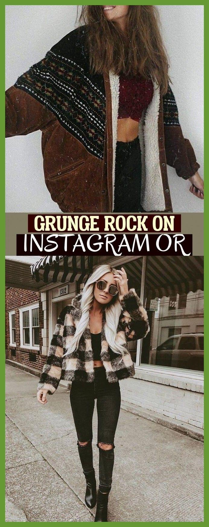 grunge rock auf instagram oder & #womenwinterfashion Grunge Rock On Instagram Or…