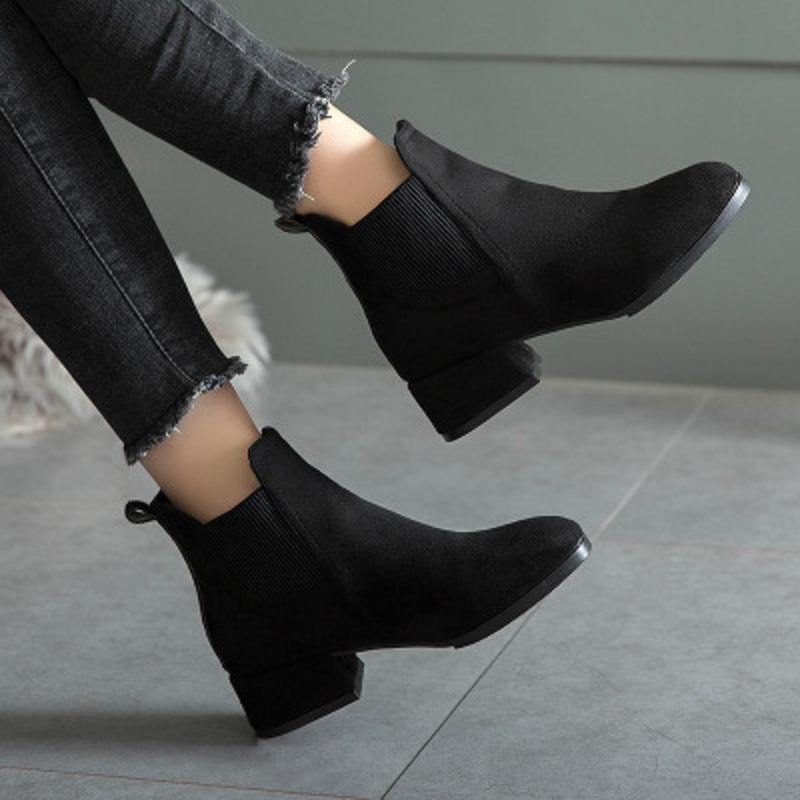 high heel thick ankle boots NA01