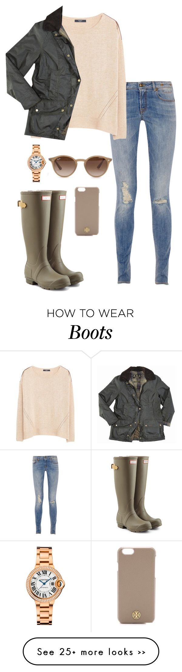 """hunter boots&barbor"" by kcunningham1 on Polyvore featuring R13, MANGO, Hunter, …"