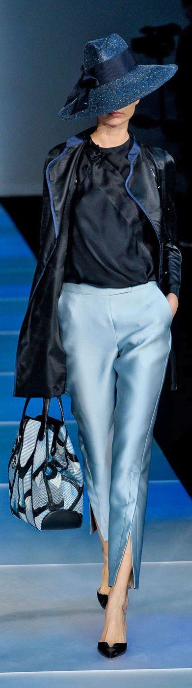 love the hat! Giorgio Armani Ready To Wear Spring/Summer 2012 | Milano Moda Fash…