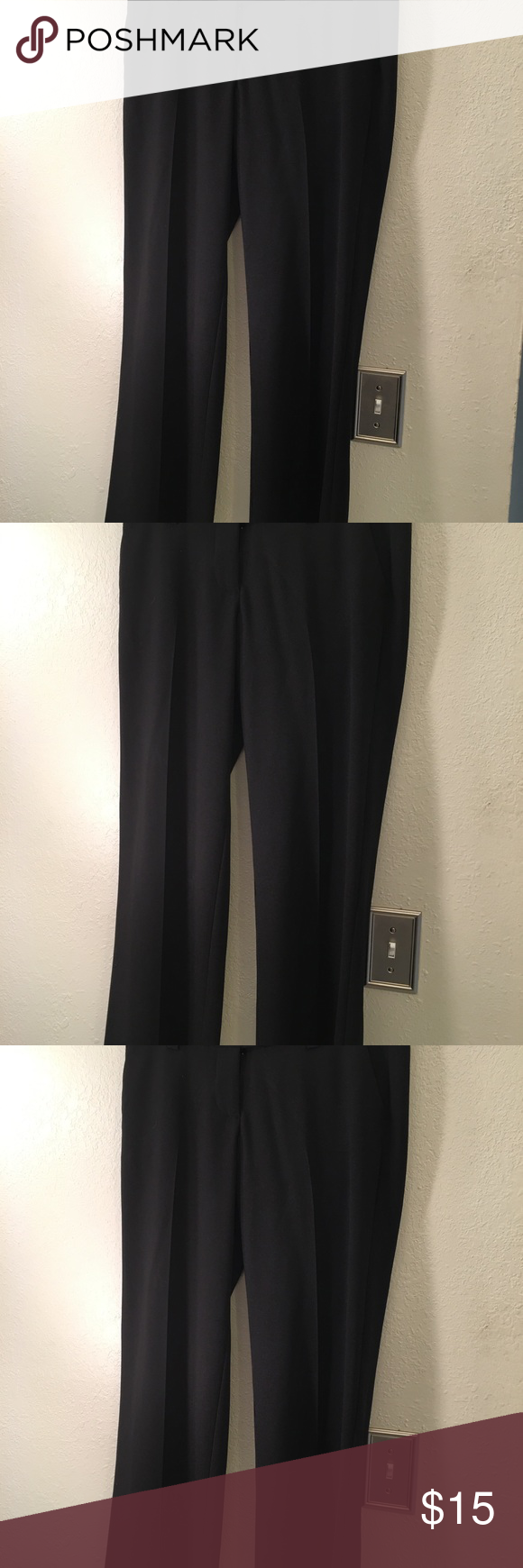 max & mia ladies pants size 7 color black waist 30 length 38 inseam  29  excelle…