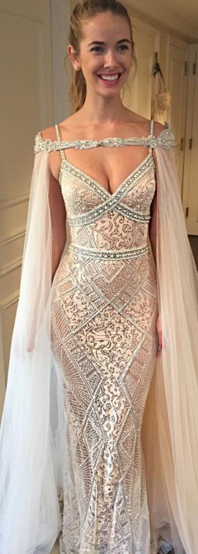 mermaid wedding dresses with beaded, 2017 new arrival bridal gown, dresses for b…