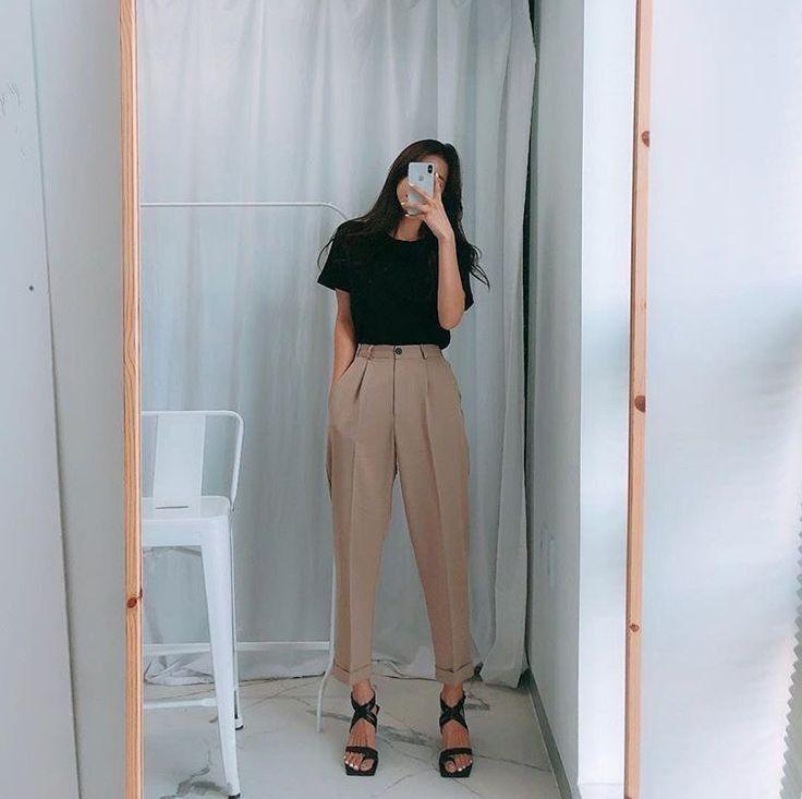 minimalist modern monochrome womens spring summer style, trousers womens style