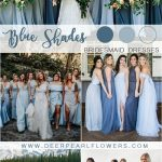 mixed blue bridesmaid dresses #wedding #weddings #weddingideas #blueweddings #de...