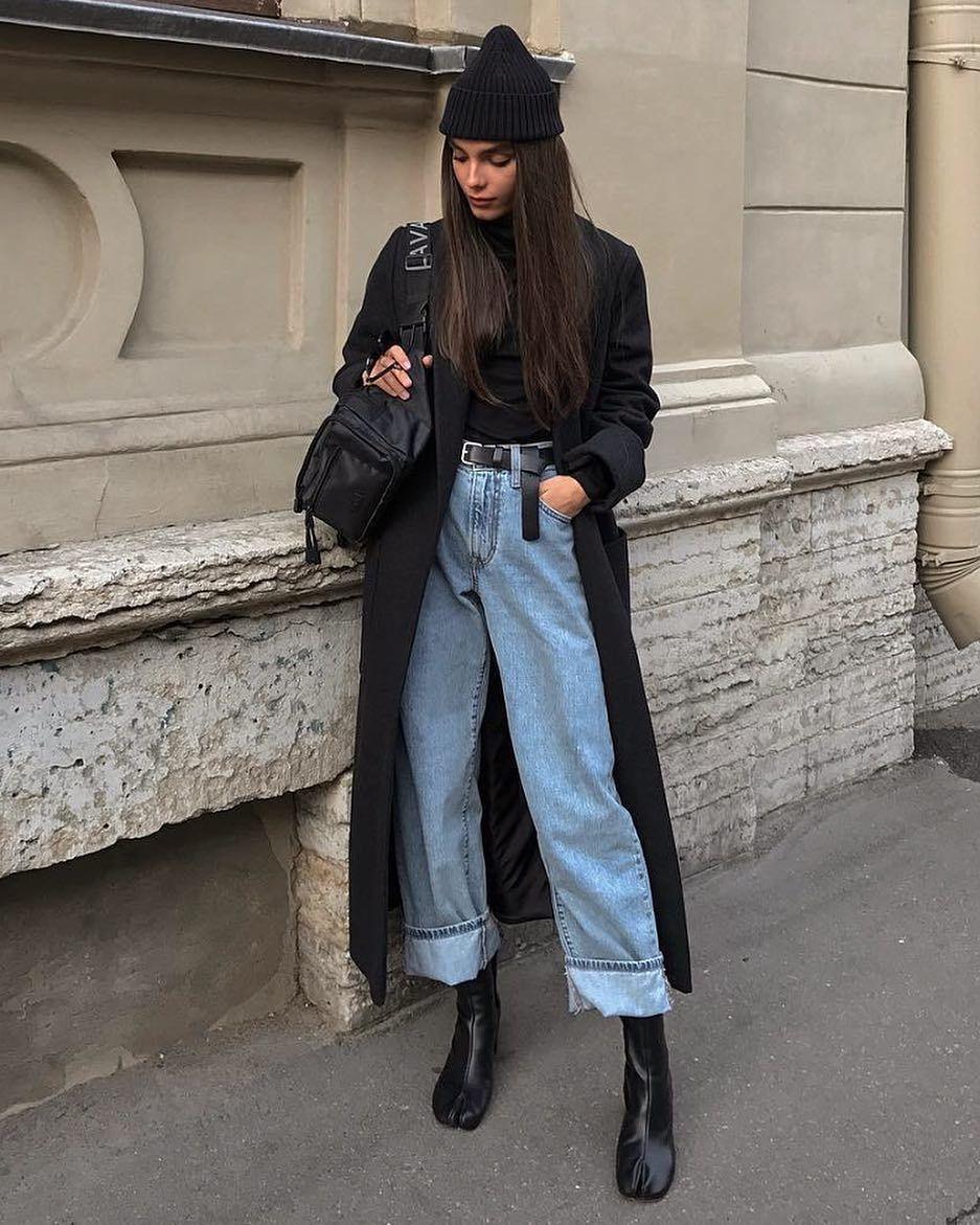 mm hello perfect baggy jeans/coat/beenie/samurai boots ensemble 😍😍😍| jo…