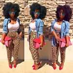 pants cheetah print joggers pants loose pants summer denim shirt summer outfits ...