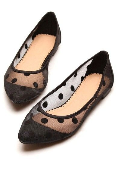 sheer polka dot flats. These would be soooo fun and perfect for my symphony conc…
