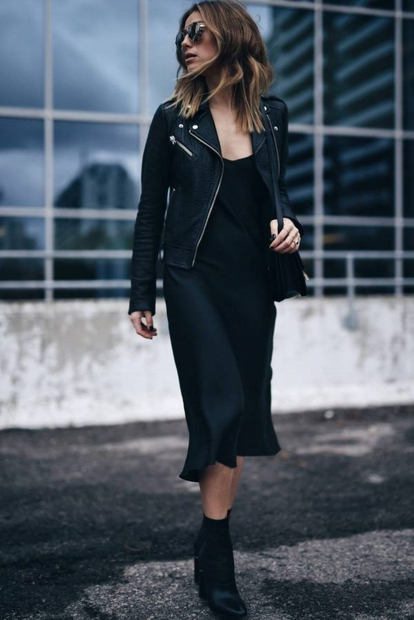 silk black slip dress, silk dress, silk slip midi dress, silk style, silk outfit, streetstyle