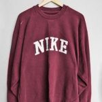 sweater pull nike pullover red red sweater nike sweater tumblr jumper sweatshirt...