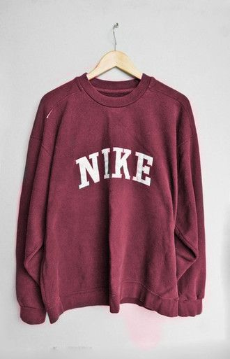 sweater pull nike pullover red red sweater nike sweater tumblr jumper sweatshirt…