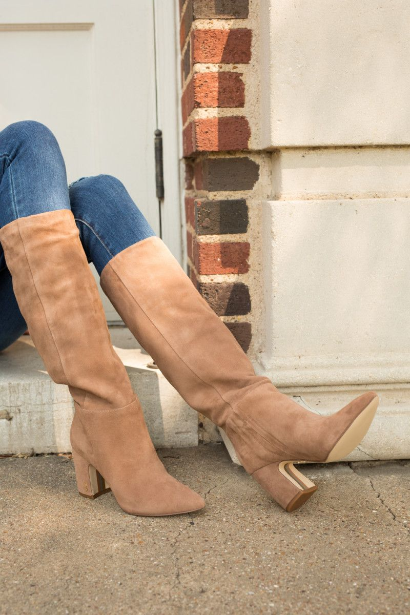 the miller affect wearing sam edelman suede boots from the nordstrom anniversary…